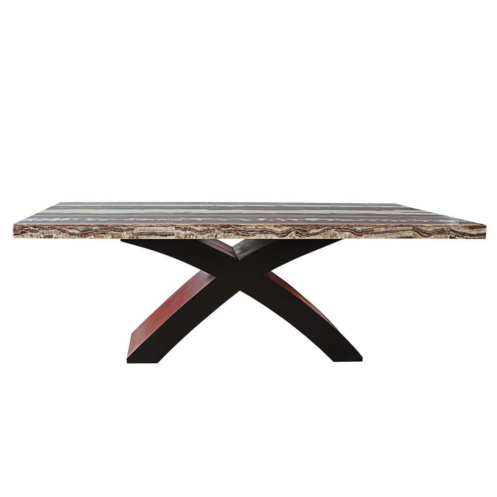 Tisch mit Platte aus Onyxmarmor